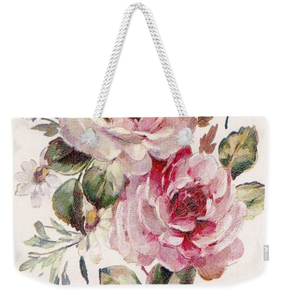 Weekender Tote Bag featuring the mixed media Blossom Series No. 1 by Writermore Arts