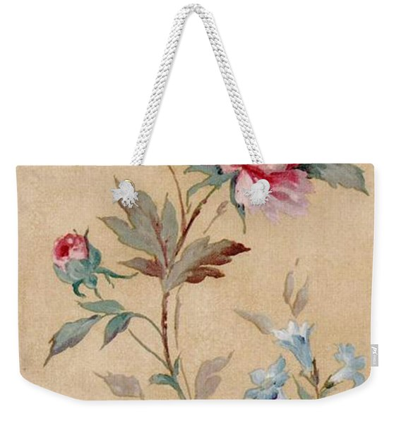 Weekender Tote Bag featuring the mixed media Blossom Series No.4 by Writermore Arts
