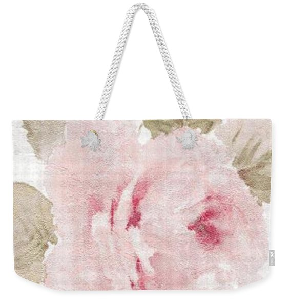 Weekender Tote Bag featuring the mixed media Blossom Series No.5 by Writermore Arts