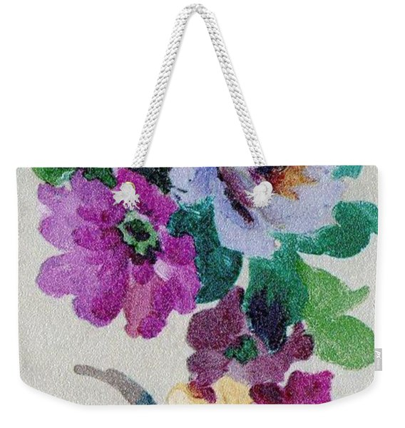 Weekender Tote Bag featuring the mixed media Blossom Series No.6 by Writermore Arts