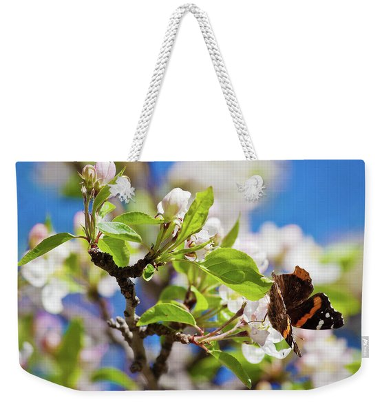Blossoms And Butterfly Weekender Tote Bag