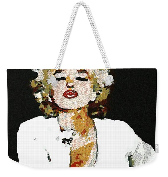 Blow Me A Kiss Marilyn Monroe In The Mix Weekender Tote Bag