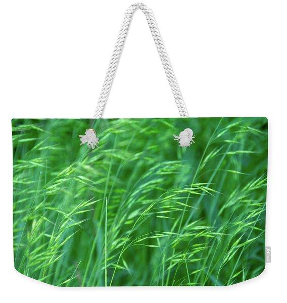 Blowing Green Weekender Tote Bag