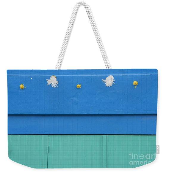 Blue Architectural Detail Weekender Tote Bag