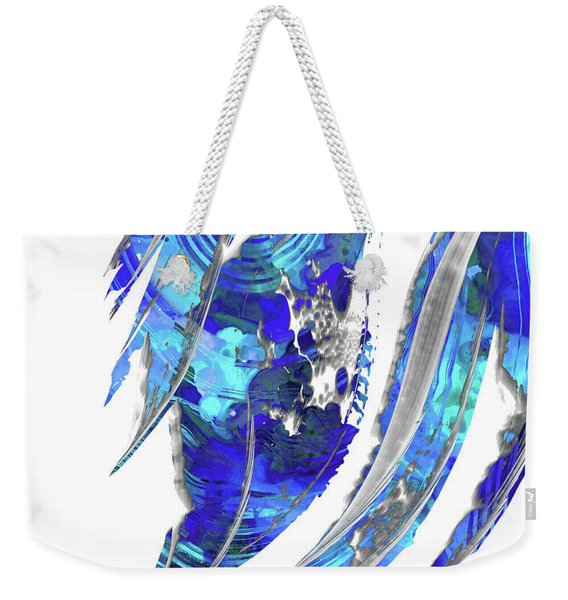 Blue Abstract Art - Flowing 2 - Sharon Cummings Weekender Tote Bag