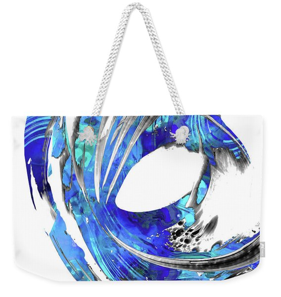 Blue Abstract Art - Swirling 3 - Sharon Cummings Weekender Tote Bag