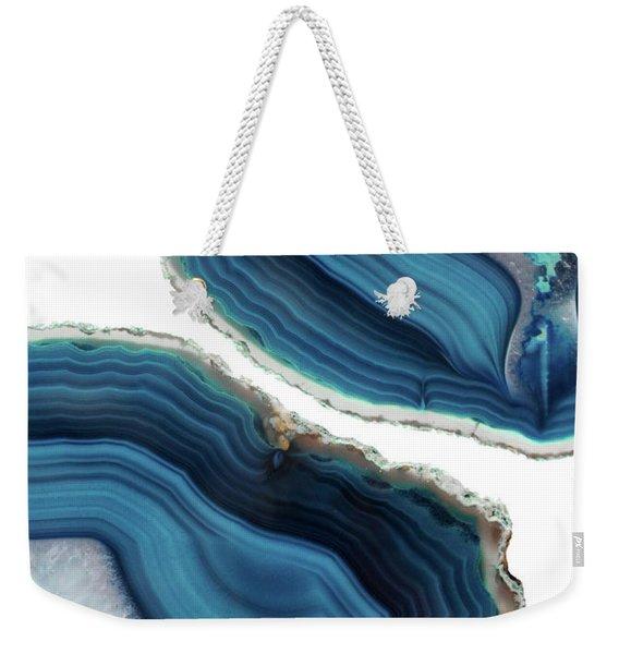 Blue Agate Weekender Tote Bag