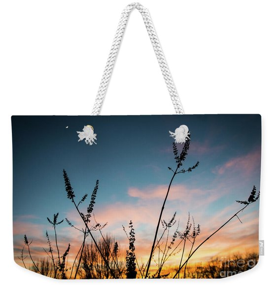 Blue And Gold Sunset Weekender Tote Bag