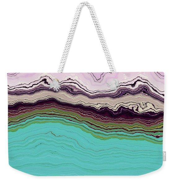 Blue And Lavender Weekender Tote Bag