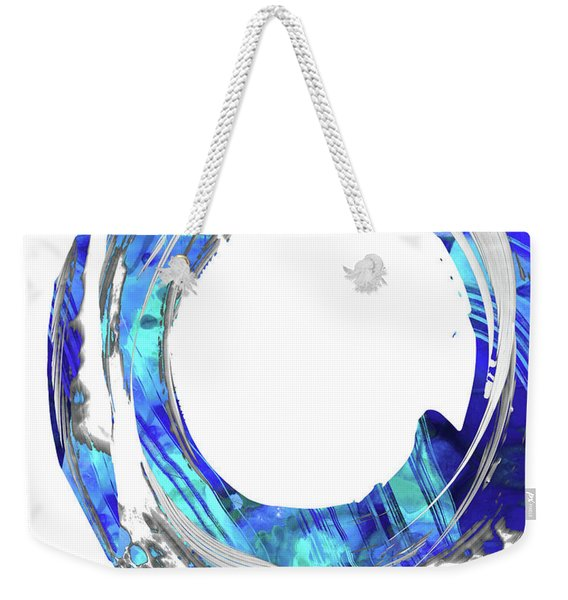 Blue And White Abstract - Swirling 1 - Sharon Cummings Weekender Tote Bag