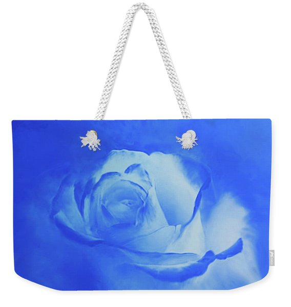 Blue And White Arising Weekender Tote Bag
