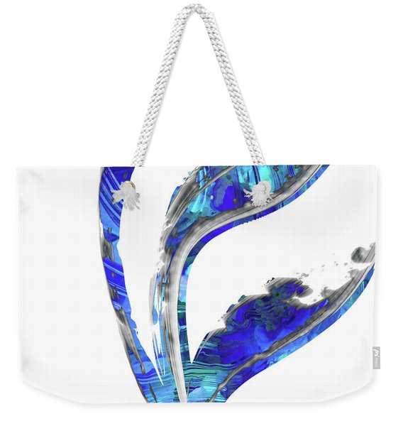 Blue And White Art - Flowing 1 - Sharon Cummings Weekender Tote Bag
