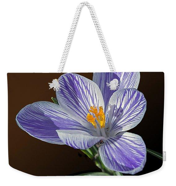 Blue And White Crocus Weekender Tote Bag
