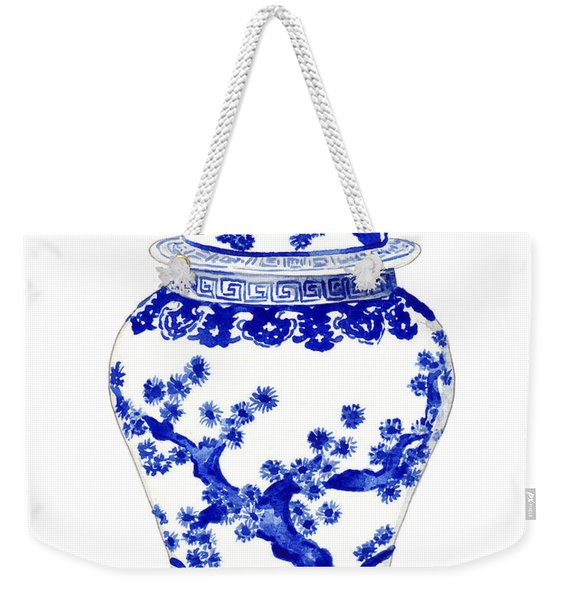 Blue And White Ginger Jar Chinoiserie 10 Weekender Tote Bag