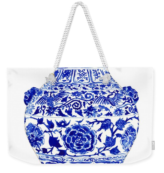 Blue And White Ginger Jar Chinoiserie 4 Weekender Tote Bag