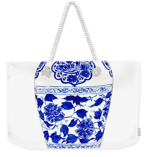 Blue And White Ginger Jar Chinoiserie Jar 1 Weekender Tote Bag