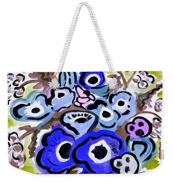 Blue Anemones Weekender Tote Bag