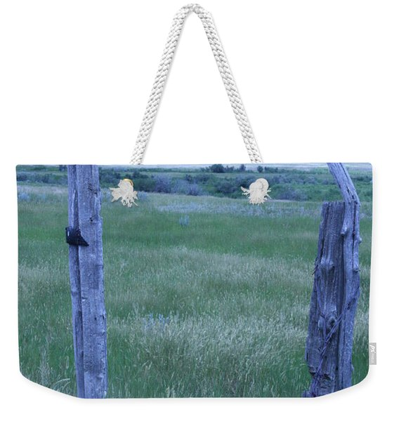 Blue Barbwire Weekender Tote Bag