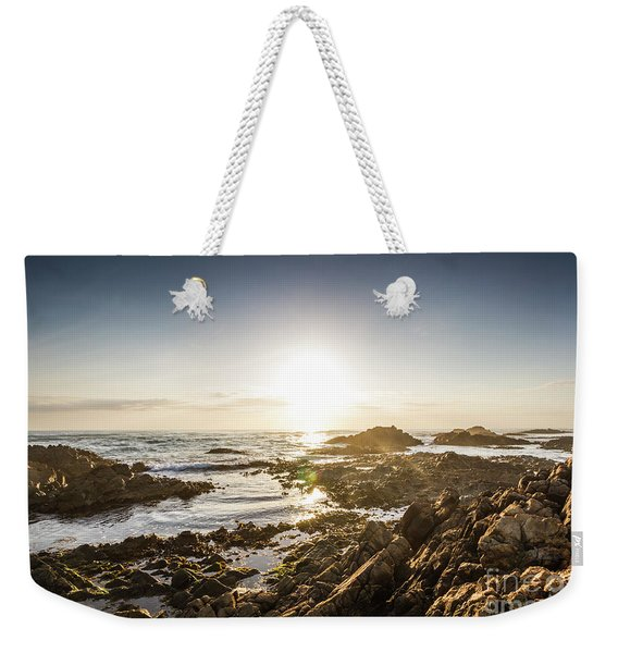 Blue Beach Beauty Weekender Tote Bag