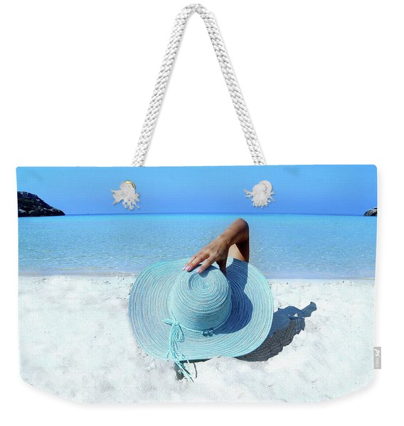 Blue Beach Weekender Tote Bag