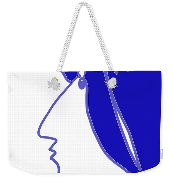 Blue Belle Weekender Tote Bag