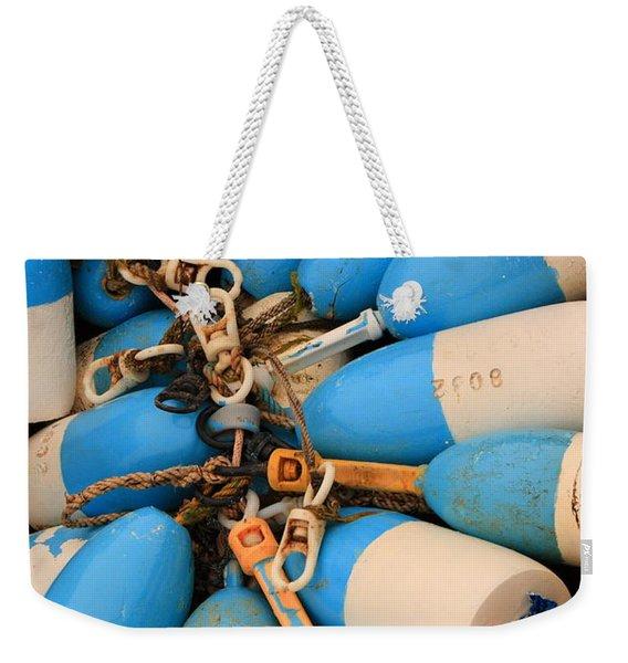 Blue Bouys Weekender Tote Bag
