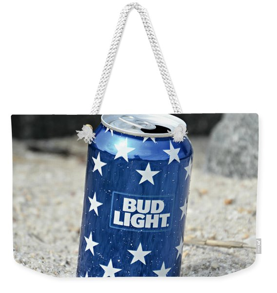 Blue Bud Light Weekender Tote Bag