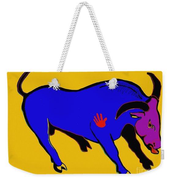 Blue Bull Weekender Tote Bag