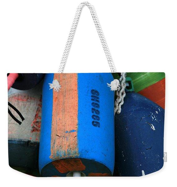 Blue Buoys Weekender Tote Bag