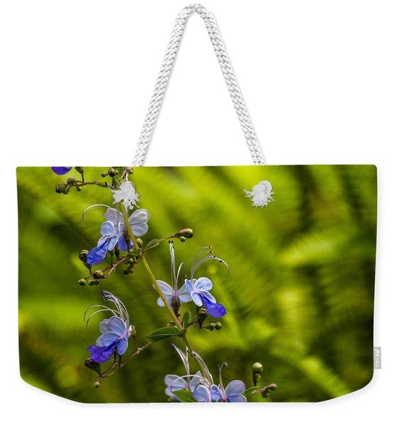Blue Butterfly Weekender Tote Bag