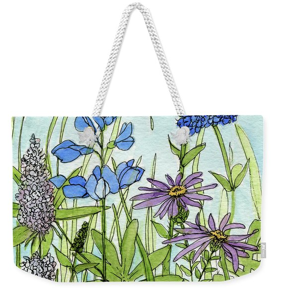 Blue Buttons Weekender Tote Bag