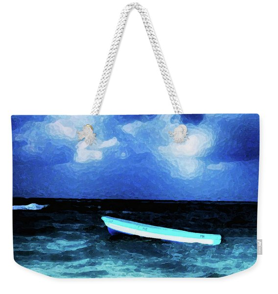 Blue Cancun Weekender Tote Bag
