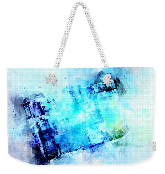Blue Canvas Weekender Tote Bag