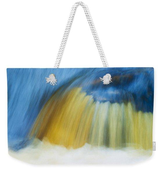 Blue Cascade Weekender Tote Bag