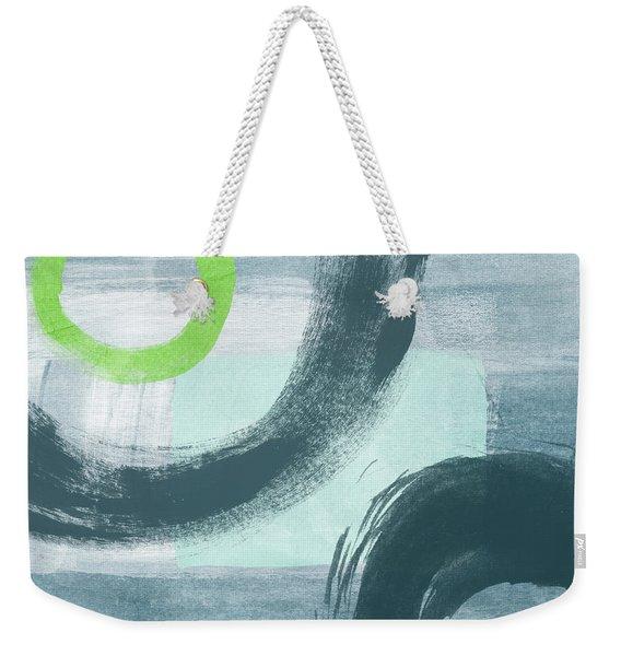 Blue Circles 1- Art By Linda Woods Weekender Tote Bag
