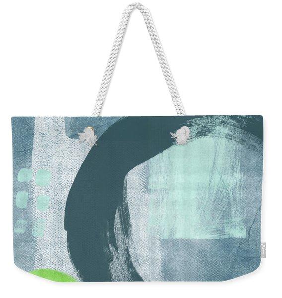Blue Circles 2- Art By Linda Woods Weekender Tote Bag