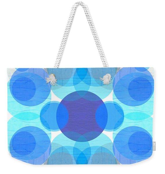 Blue Circles Weekender Tote Bag