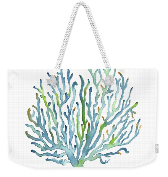 Blue Coral Weekender Tote Bag
