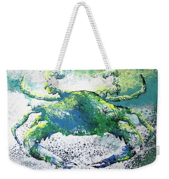 Blue Crab Abstract Weekender Tote Bag
