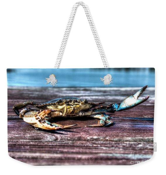 Blue Crab - Big Claws Weekender Tote Bag