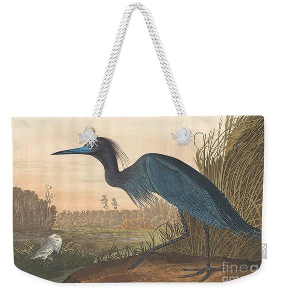 Blue Crane Or Heron Weekender Tote Bag