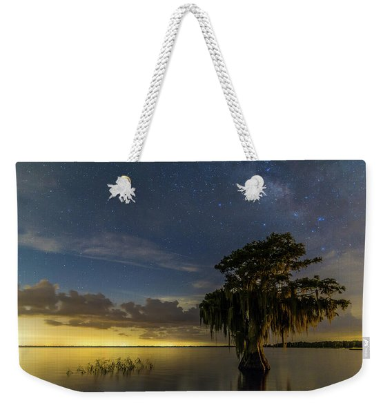 Blue Cypress Lake Nightsky Weekender Tote Bag