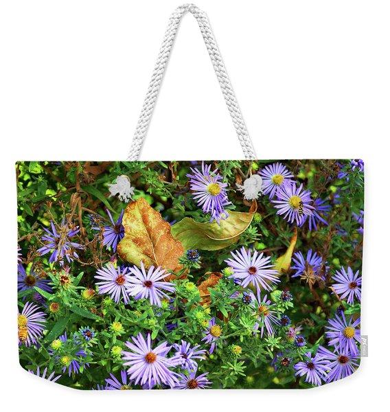 Blue Daisy Dance Weekender Tote Bag