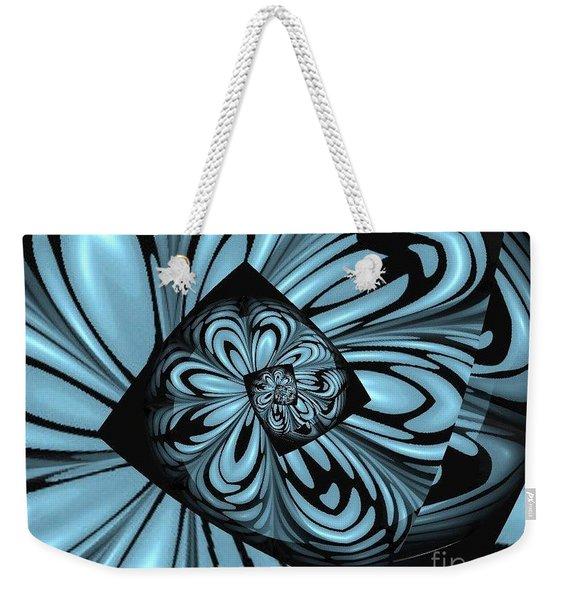 Blue Deep Hole Weekender Tote Bag