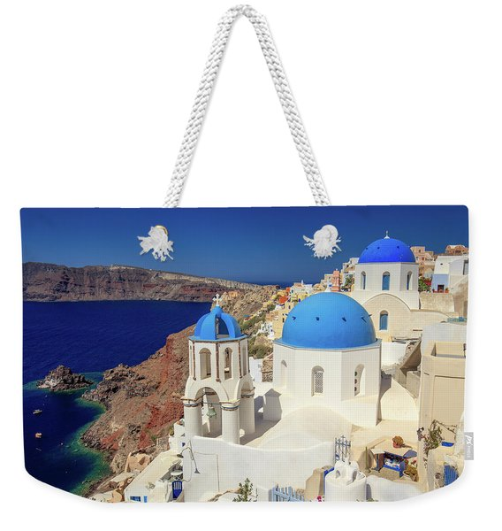 Blue Domed Churches Weekender Tote Bag