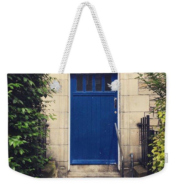 Blue Door In Ivy Weekender Tote Bag