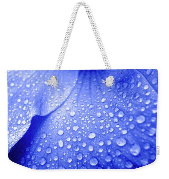 Blue Droplets Weekender Tote Bag
