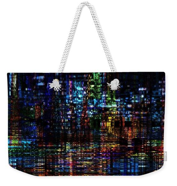 Blue Evening Weekender Tote Bag