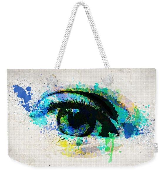 Blue Eye 8x10 Weekender Tote Bag