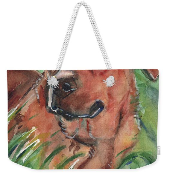 Blue Eyed Dog Weekender Tote Bag